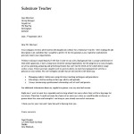 Substitute Teacher Cover Letter PDF Format Free Download