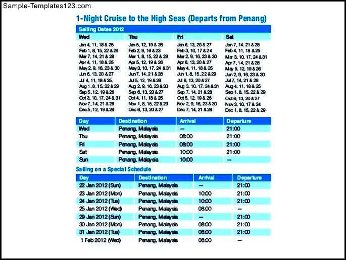 Superstar Libra Cruise Itinerary  Sample Templates  Sample Templates