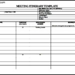 Supervisors Meeting Agenda Itinerary Template