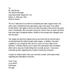 Supply Cancellation Letter