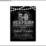 Surprise 50th Birthday Invitation