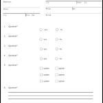 Survey Form Template