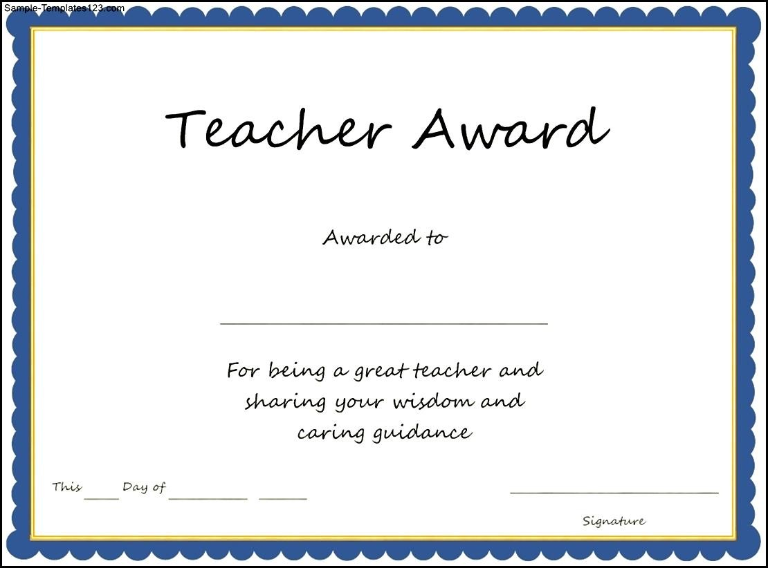 free certificate templates for teachers