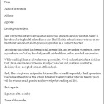 Teacher Resignation Letter Format