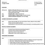 Teacher Resume Template Download