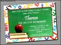 Teacher Retirement Invitation Template