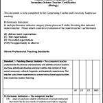 Teacher & Student Evaluation PDF Form