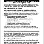 Teaching CV Template Free