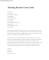 Teaching Resume Cover Letter Example