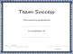 Team Success Certificate Template