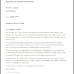 Terminating Tenancy Letter by Landlord in Word