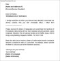 Termination Service Letter to Company