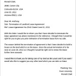 Termination of Landlord Lease Agreement