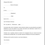 Termination of Services Letter Format Download for Free