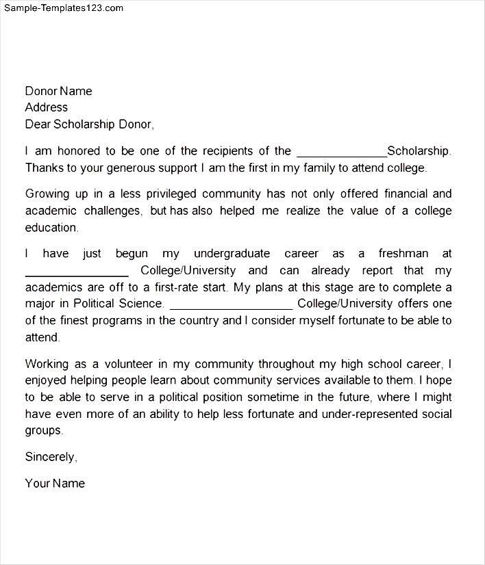 How to format a thank you letter for a scholarship peopledavidjoel how to format a thank you letter for a scholarship scholarship letter format spiritdancerdesigns Image collections