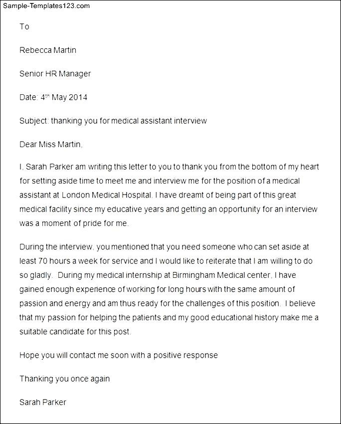 Thank you letter medical assistant gallery letter format formal sample sample thank you letter after interview for medical assistant sample thank you letter after interview for thecheapjerseys Gallery
