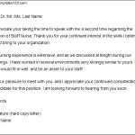 Thank You Letter after Nursing Interview
