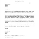 Thank You Letter for Sponsorship Free Download