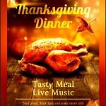Thanksgiving Dinner Invitation Template Sample
