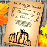 Thanksgiving Halloween Invitation