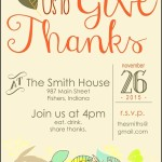 Thanksgiving Invitation Example