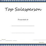 Top Salesperson Certificate Template