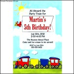 Train Birthday Personalized Invitation at Birthday Direct