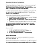 Training Evaluation Template PDF