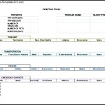 Travel Itinerary Excel Format Template