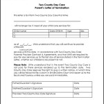 Two County Day Care Parent's Letter of Termination PDF Format