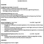 University Career Resume Sample