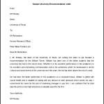 University Recommendation Letter Template Sample Download