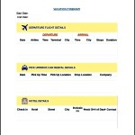 Vacation Itinerary Template in Excel