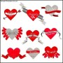 Valentine's Day Heart Labels
