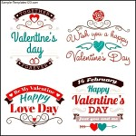 Valentine's Day Set of Label
