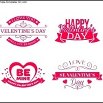 Valentine's Day Set of Labels