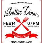 Valentine Dinner Party Invitation