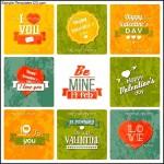 Valentines Day Vintage Design Labels