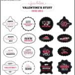 Valentines Day Vintage Labels