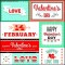 Valentines Day labels and cards