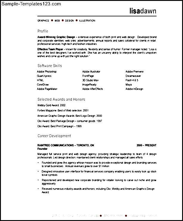 visual designer resume description sle templates