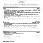 Warehouse Resume Skills Sample