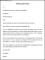 Warning Letter Format Template