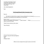 Web Hosting Service Termination Letter Template PDF Format