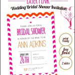 Wedding Bridal Shower Invitation