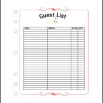 Wedding Guest List Spreadsheet