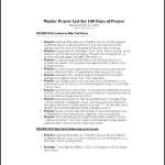 Weekly Prayer List Template