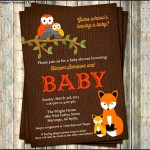 Woodland Baby Shower Invitation Template