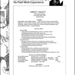 Write A Job Resume With No Work Experience