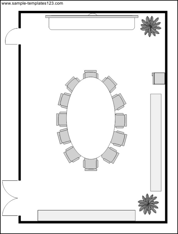 Room Design Layout Templates: Conference Room Layout Template